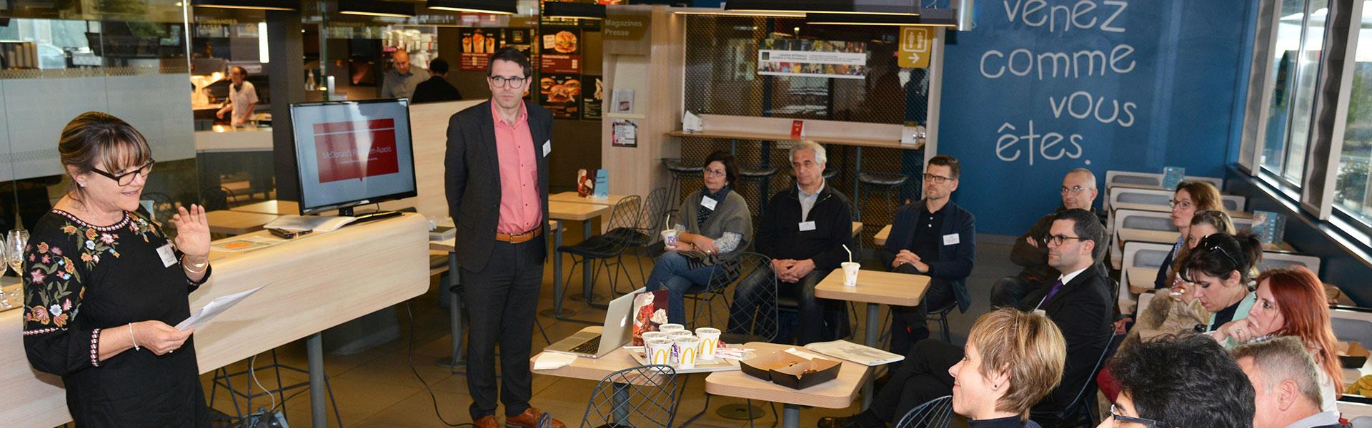 Club des Entrepreneurs de l'Auxois, visite Mac Donalds